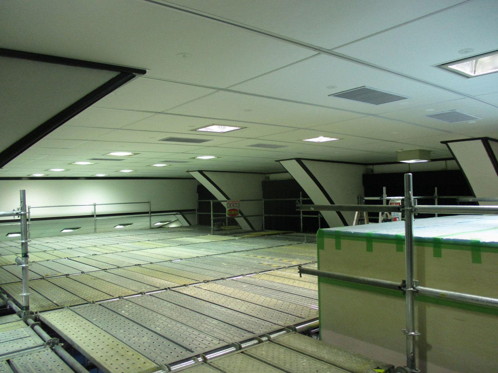東京大学(駒場Ⅰ)講堂900番教室天井改修4